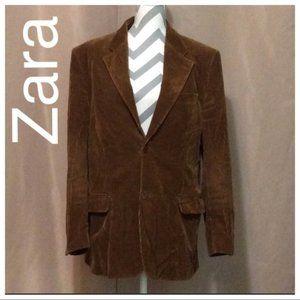 Zara Man Size 40 Brown Corduroy Jacket